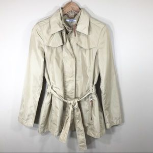 Zara tan raincoat, size Medium